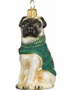 DIVA Pug Fawn In Argyle Sweater