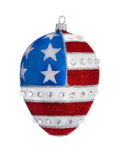 Red White & Blue Jeweled Egg - NEW!