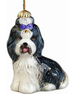 Shih Tzu Black and White Pendant - Now on Clearance!