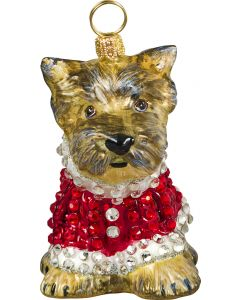 Yorkie Puppy in Crystal Encrusted Coat