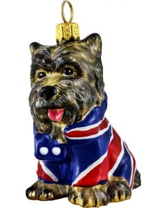 Yorkie in Union Jack Coat