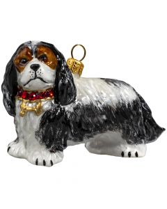 Cavalier King Charles Spaniel Tri Color with Swarovski Crystal Collar