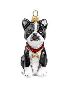 Boston Terrier with Swarovski Crystal Collar