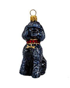 Black Poodle with Swarovski Crystal Collar