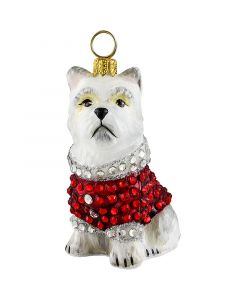 Westie in Full Crystal Encrusted Coat