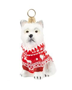Westie in Nordic Sweater