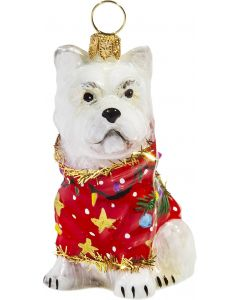 Westie in Ugly Christmas Sweater