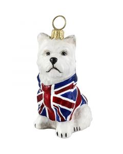 Westie with Union Jack Coat