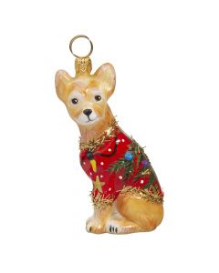 Chihuahua in Ugly Christmas Sweater