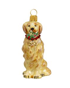 Golden Retriever with Swarovski Crystal Collar - Only 1 Available