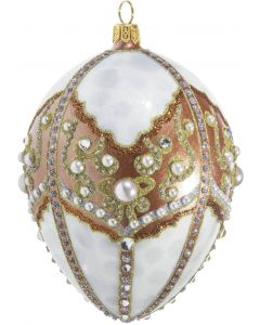 Copper & Pearl Jeweled Egg