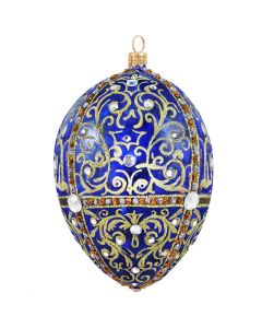 Glitterazzi Gold Filigree Jeweled Egg