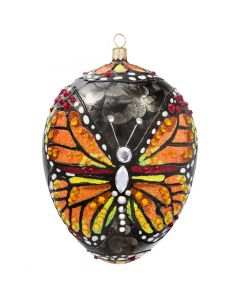 Glitterazzi Monarch Butterfly Jeweled Egg