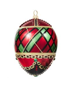 Glitterazzi Tartan Plaid Jeweled Egg