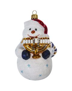 Interfaith Snowman with Menorah