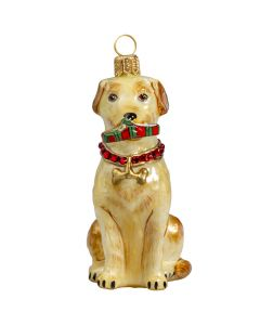 Yellow Lab with with Swarovski Crystal Collar - Only 1 Available
