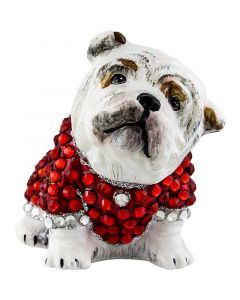 Bulldog in Full Crystal Encrusted Coat