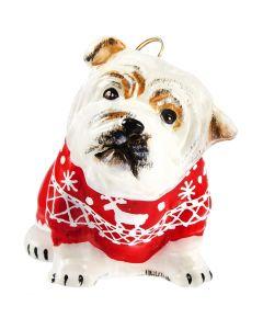 Bulldog in Nordic Sweater
