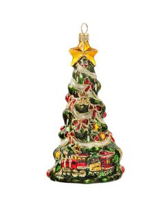 Metzler Bros Christmas Tree with Train