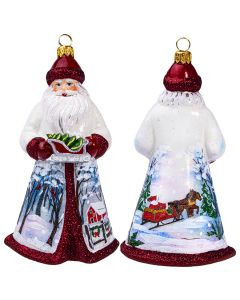 Glitterazzi Red and Silver Santa Holding a Sleigh - NEW!