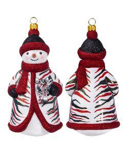 Glitterazzi Zebra Snowman - NEW!