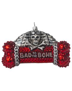 Bad To The Bone Dog Bone - Red Version