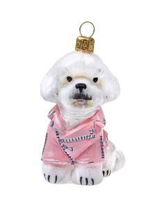 Bichon Frise in Pink Motorcycle Jacket - NEW!