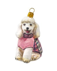 Poodle in Pink & Black Checked Sweater - NEW!