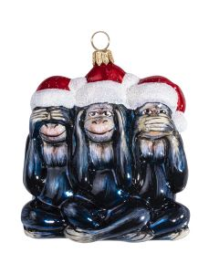 Capuchin Monkeys See No Evil, Hear No Evil, Speak No Evil - NEW!